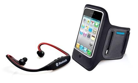 Kit de brazalete para correr y/o auriculares Bluetooth para iPhone/iPod/Smartphone desde 5,99 € (hasta 75% de descuento)