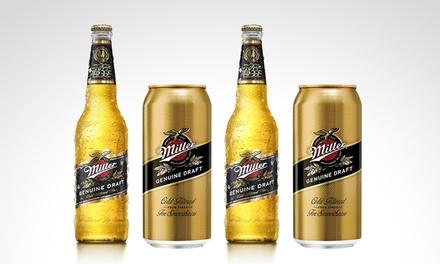 Desde $175 en vez de $249 por porrones o latas de cerveza Miller para retirar en sucursal