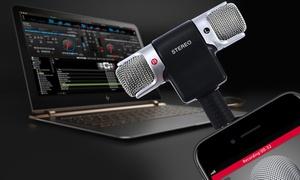 Mini-stereorecorder voor smartphones, tablets en computers