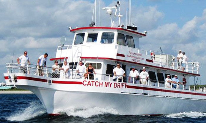 Fishing Headquarters - Central Beach: Four-Hour Drift-Fishing Trip for One from Fishing Headquarters (Up to 20% Off). Two Options Available.