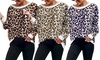 1x oder 2x Damen-Oberteil mit Leopardenmuster