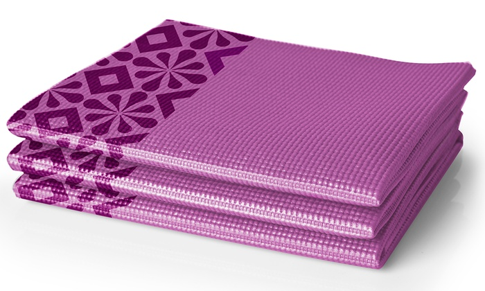 Up To 14 Off On Lotus Folding Traveling Yoga Mat Groupon Goods