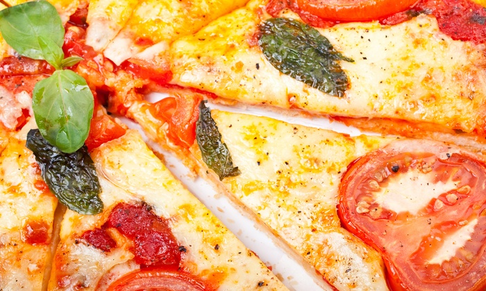 Lorelli's Pizza & Pasta Bar - Garment District: Kosher Pizza or Sandwich Meal with Soda for Two or Four at Lorelli's Pizza & Pasta Bar (Up to 52% Off)