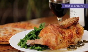 Sonoma Chicken: Casual American Dinner with Drinks and Dessert for Two or Four at Sonoma Chicken Coop (Up to 39% Off)
