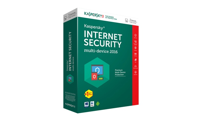 Phoenix Software: Multi-Device Kaspersky Internet Security 2016 - Four-User Anti-Virus for R299 (63% Off)