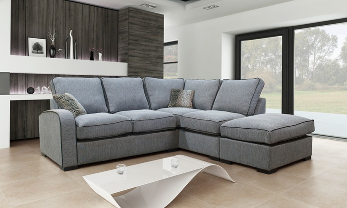 Hula Formal Or Scatter Left- Or Right-Hand Corner Sofa With Storage Footstool