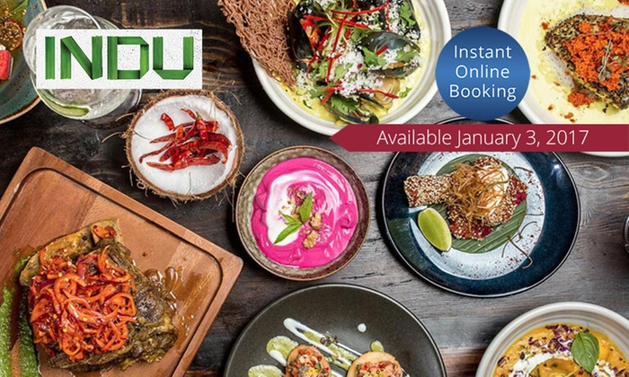 INDU - Sydney: $99 Indu Feast with Wine for Two People, or $119 to Include Lamb Raan at INDU (Up to $190 Value)
