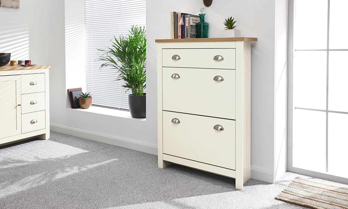 Two-Tier Slimline Hallway Shoe Cabinet for £79.99