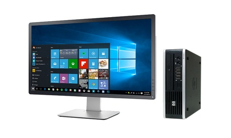 Ordenador HP Elite 8000 USFF Core 2 Duo de 160 Gb reacondicionado con o sin monitor de 22' (envío gratuito)