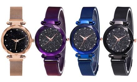 Galaxy Fashion Magnetic Strap Watch