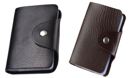 1x oder 2x Etui für Kreditkarten in Schwarz oder Braun