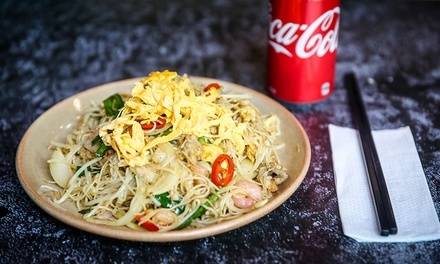 Chinese Noodle or Rice Dish with Soft Drink for One $9.90 or Two People $19.50 at The Bun Gallery Up to $35 Value