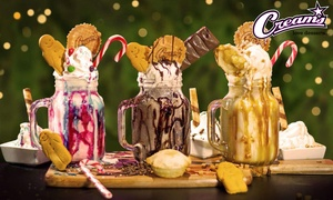 Creams Cafe Luton: Choice of Any Freakshake for Two or Four at Creams Cafe Luton