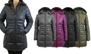 Spire By Galaxy Women's Silhouette-Style Puffer Jacket