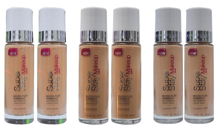 Maybelline Super Stay Foundation - Two ($12) or Four Bottles ($19) (Don't Pay up to $99.80)