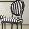 Black-and-White Striped Chairs (Set of 2)
