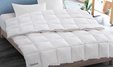 Couette Signature en plumes de canard blanc 700gr/m² avec 1 ou 2 oreillers en option
