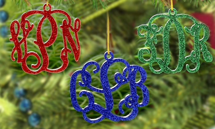 Monogram Online: $5 for an Acrylic Monogrammed Christmas Ornament from Monogram Online ($24.99 Value)