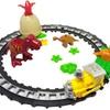 Dinosaur World Brick Train Set