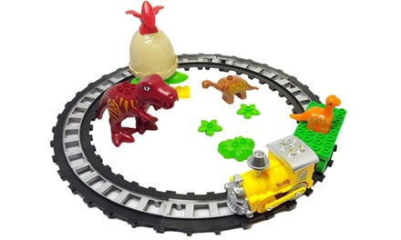 One or Two Dinosaur World Brick Train Sets