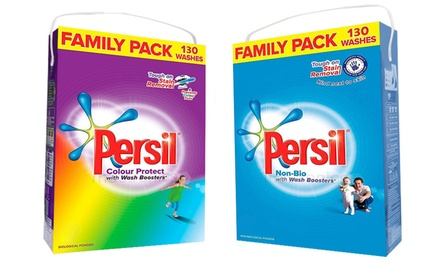 Persil 130 Washes Family Pack Non Bio or Colour Washing Powder
