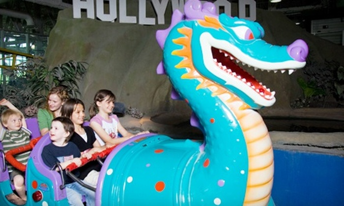 The Hollywood Connection - West Valley City: Unlimited Rides, Mini Golf, and Skating with Tokens for 1, 5, or 10 at The Hollywood Connection (Up to 76% Off)