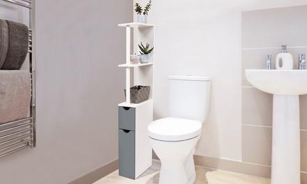 Scaffale da bagno con armadietto disponibile in 5 colori