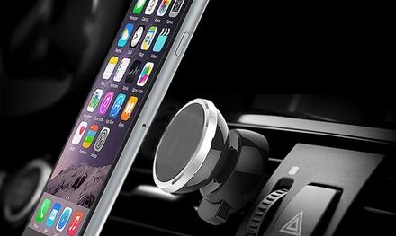 1 ou 2 supports aimantés pour voiture avec Grip pour ventilation à rotation 360° compatible tous smartphones et GPS