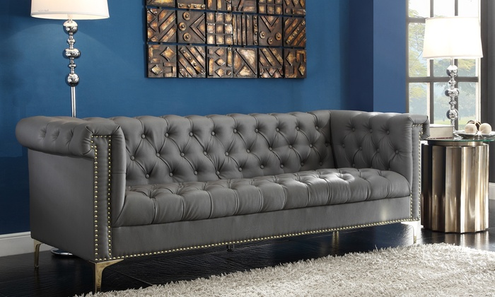 Modern Contemporary On Tufted Y Leg Sofa