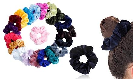 20 elastici colorati per capelli