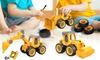 Set of 4-Pack Truck Excavator Toys