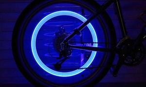 Lot de 2 ou 4 valves à LED pour roue de vélo