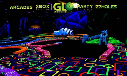 Round of Indoor Glow Mini Golf for One, Two, or Four at GLO Mini Golf (Up to 27% Off)