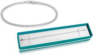 Sterling Silver Italian Made Cuban Chain Bracelet by Paolo Fortelini