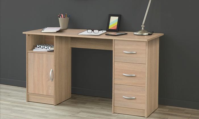 Bureau classique à 3 tiroirs | Groupon