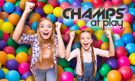 Play Arena Entry: One ($5), Two ($12) or Five Children/Visits ($18), or Party Package ($99) at Champs at Play