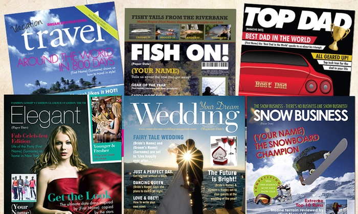 Simply Personalized: Single Printed Page Fake Magazine Cover with Optional Frame from Simply Personalized (Up to 55% Off)