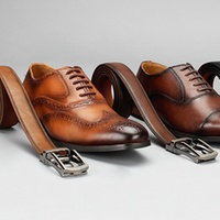 Groupon.com deals on Vincent Cavallo Mens Oxford Brogue Dress Shoes