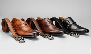 Vincent Cavallo Men's Dress Shoes with Free Matching Belt
