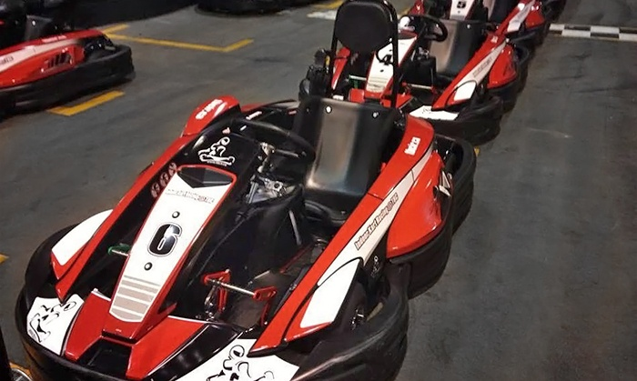 Indoor Kart Racing at TBC - Indoor Kart Racing at TBC: Exclusive Group Go-Kart Racing for up to 12 People with 15-Minutes of Track Time at Indoor Kart Racing @ TBC (44% Off)
