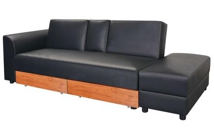 canap d angle multifonction memphis avec ses 2 poufs coloris au choix 499 90 deals et. Black Bedroom Furniture Sets. Home Design Ideas