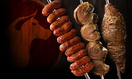 Full Rodizio and Bottles of House Wine for Two or Four at Sabor do Sul Brazilian Steak House (Up to 39% Off)