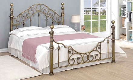 Canterbury Brass Bed with Optional Mattress With Free Delivery