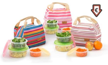 1 ou 2 sacs déjeuner isotherme Lunchy Bag, boîtes de conservation en option