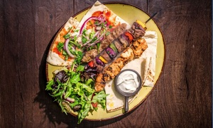 Kan Zaman Syrian BBQ: Traditional BBQ Shish Meal for One ($14) or Two People ($28) at Kan Zaman Syrian BBQ (Up to $49 Value)