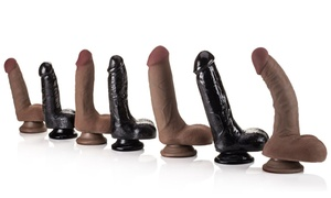 """Curve Home Grown BioSkin Realistic 6-9"""" Dual Density Dongs with Balls"""