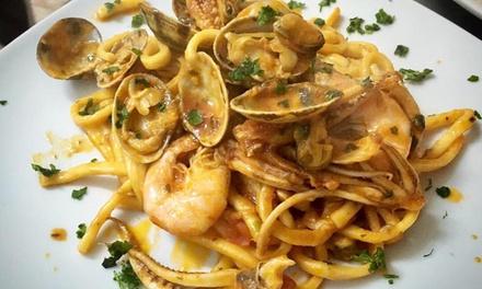 Menu di mare con dolce e vino a 39,90€euro