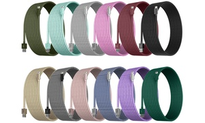 Element Works Apple-Certified Braided Lightning Cables (6-Ft & 10-Ft)