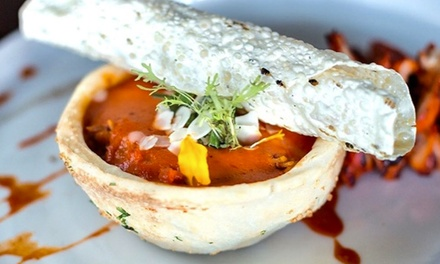 FiveCourse Indian Tasting Menu for Two $89 or Four $178 + Wine for Two $155 or Four $310 at The Ganjeez
