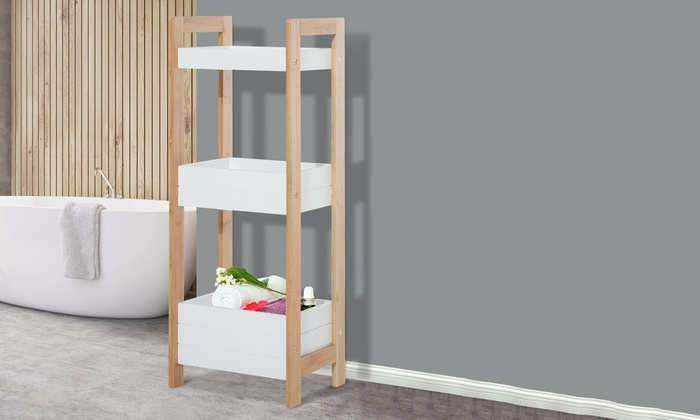 3-Tier Bamboo Bathroom Caddies | Groupon Goods